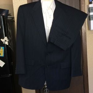 Hart Schaffner Marx 2 Piece Pinstripe Suit